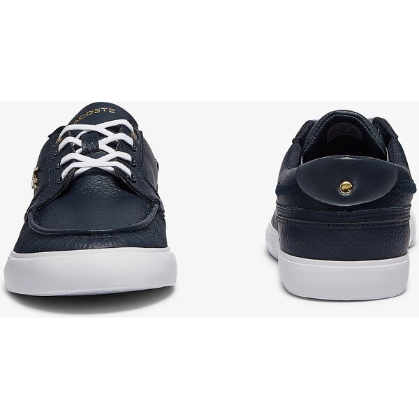 Men's Bayliss Deck Leather Sneakers, NAVY/WHITE, hi-res