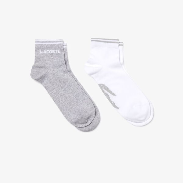 Men's Two-pack of  Tennis low-cut socks, ARGENT CHINE/BLANC, hi-res