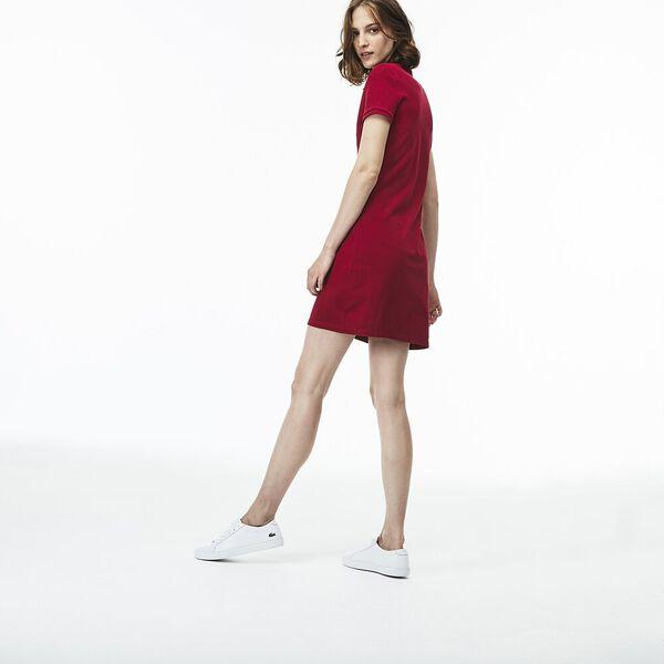 Women's Classic Slim Fit Polo Dress, BORDEAUX, hi-res