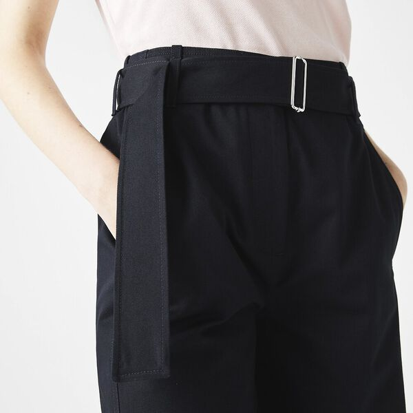 Women's High-Waisted Belted Pants, ABYSM, hi-res