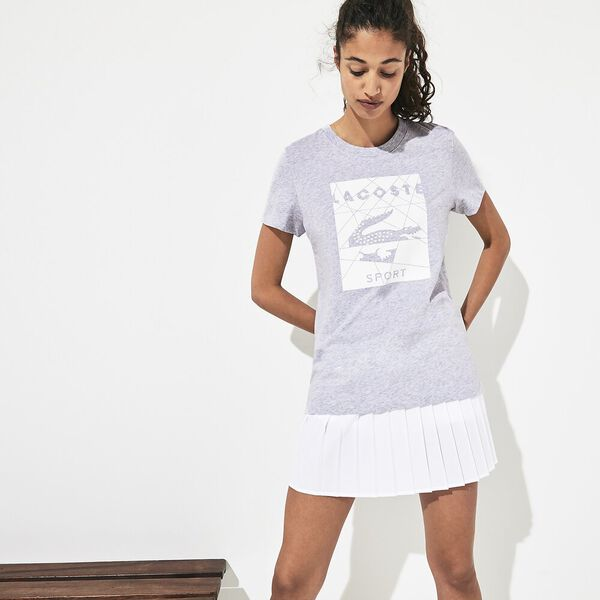 Women's Tennis Logo Jersey Tee, SILVER CHINE/WHITE-WHITE, hi-res
