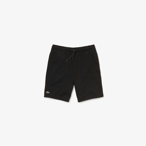 Men's Lacoste SPORT Tennis Fleece Shorts, BLACK, hi-res