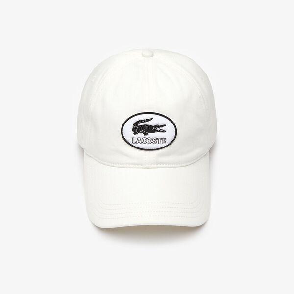 Heritage Badge Cotton Cap, FARINE, hi-res