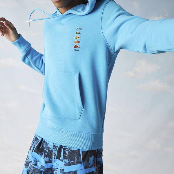 Unisex Lacoste x Polaroid Cotton Fleece Sweatshirt, FIJI, hi-res