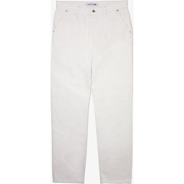 Men's Loose Cut Five-Pocket Cotton Denim Jeans, FLOUR, hi-res