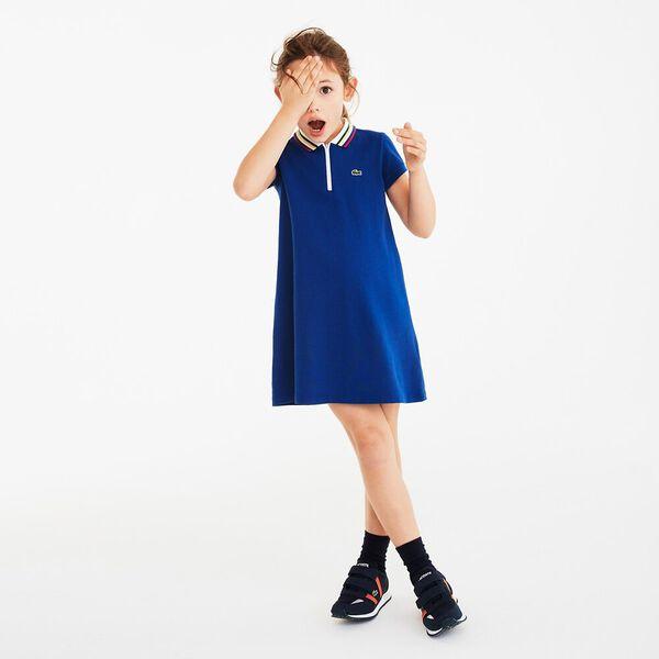 Girls Multico Girls Polo Dress, CAPTAIN, hi-res