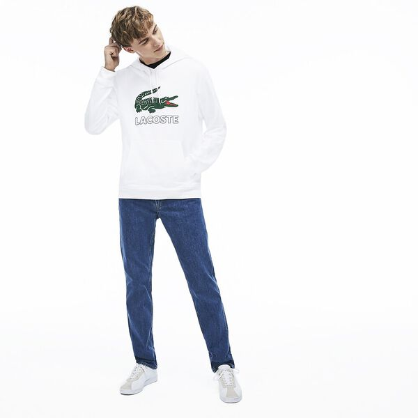 Men's Lacoste Croc Pullover, WHITE, hi-res