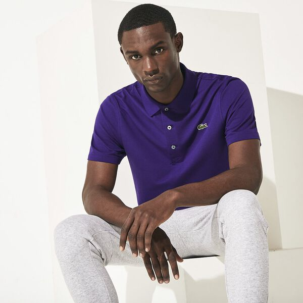 Men's SPORT Tennis regular fit Polo Shirt in ultra-lightweight knit, TANZANITE, hi-res