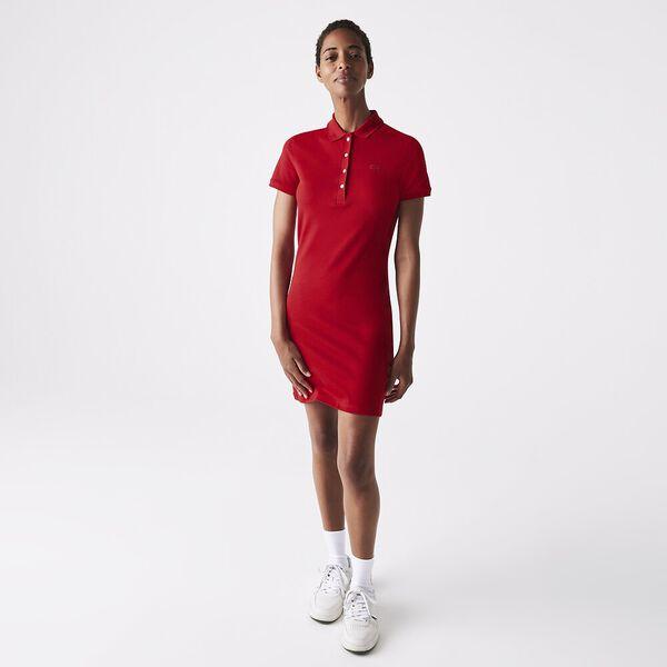 Women's Stretch Cotton Polo Dress