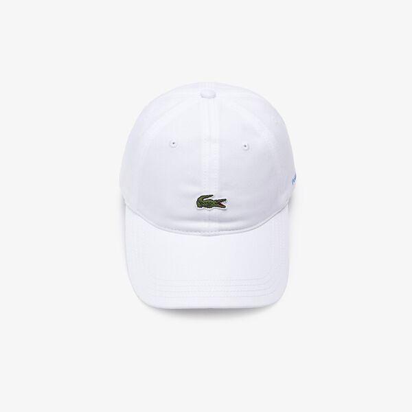 Men's Lacoste x Polaroid Color Striped Strap Cap, WHITE, hi-res