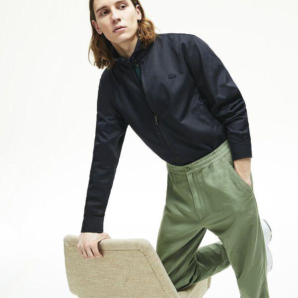 Men's Lightweight Cotton Zip Harrington Jacket