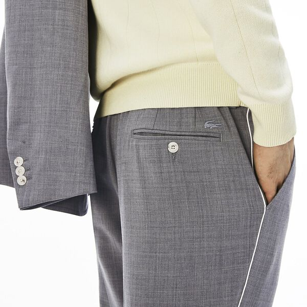 MEN'S PLAIN WEAVE CHINO PANT, SILVER CHINE, hi-res