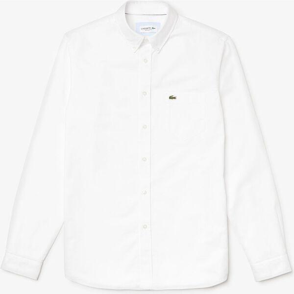 Men's Classic Long Sleeve Reg Fit Oxford Shirt, WHITE, hi-res