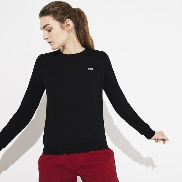 Women's Basic Crew Neck Sweatshirt, BLACK, hi-res