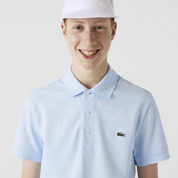 Men's Cotton Piqué Slim Fit Polo, RUISSEAU, hi-res