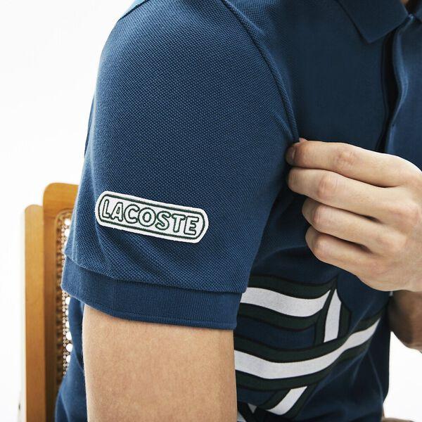 Men's Lacoste Stripe Print Polo Shirt, LEGION, hi-res