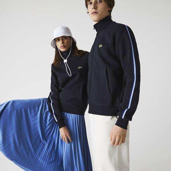 Unisex High Neck Organic Cotton Zip Sweatshirt