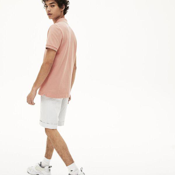 Men's Cotton Piqué Polo Shirt, GRAPHITE SOMBRE/LEGION-CORRIDA-VIENNOIS, hi-res