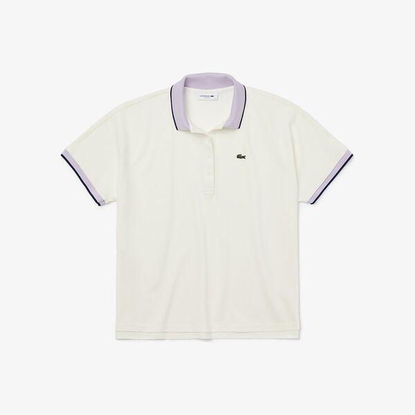 Women's Relax Fit  Polo Shirt, FARINE/PROVENCAL-METHYLENE, hi-res