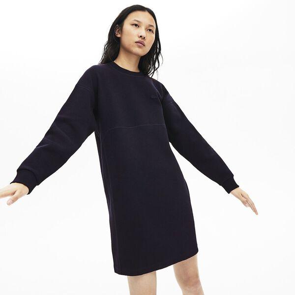 Women's Lacoste Motion Sweatshirt Dress, NAVY BLUE, hi-res