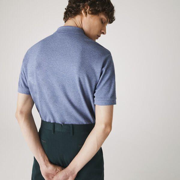 Men's Marl Classic Fit L.12.12 Polo, LIGHT INDIGO BLUE, hi-res