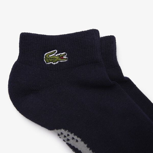 Men's SPORT Printed Crocodile Low-Cut Socks, NAVY BLUE/SILVER CHINE, hi-res