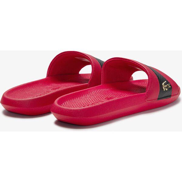 Men's Croco Slides, RED/BLACK, hi-res