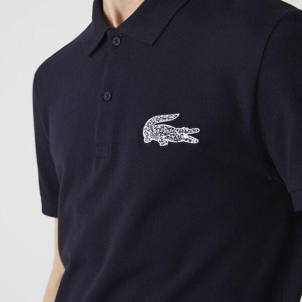 Men's Regular Fit Crocodile Badge Polo, ABYSM, hi-res