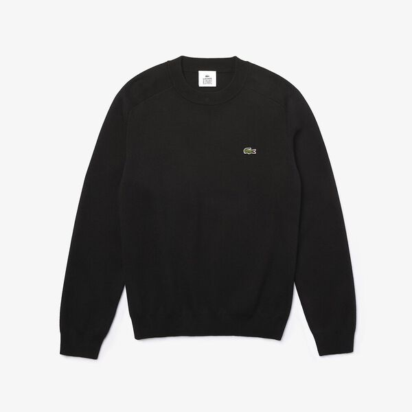 Men's L!ve Signature Crewneck Knit, NOIR/FARINE, hi-res