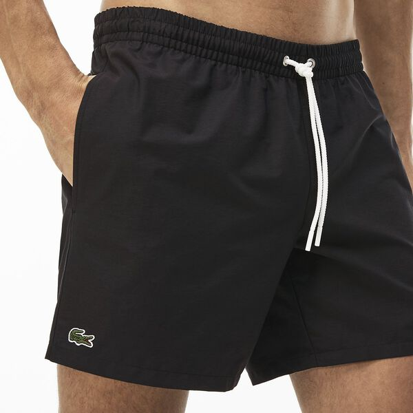 Men's Basic Swim Short, BLACK/NAVY BLUE, hi-res