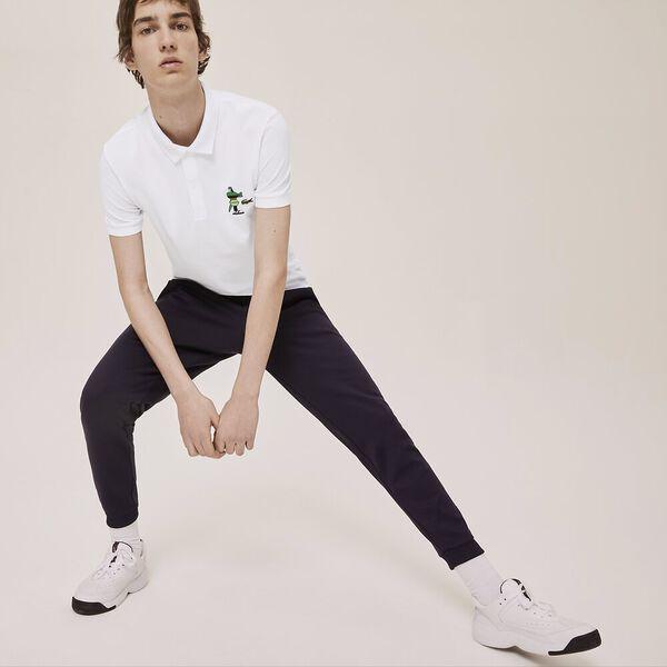 Unisex Lacoste x Jeremyville Design Classic Fit Polo Shirt, WHITE, hi-res