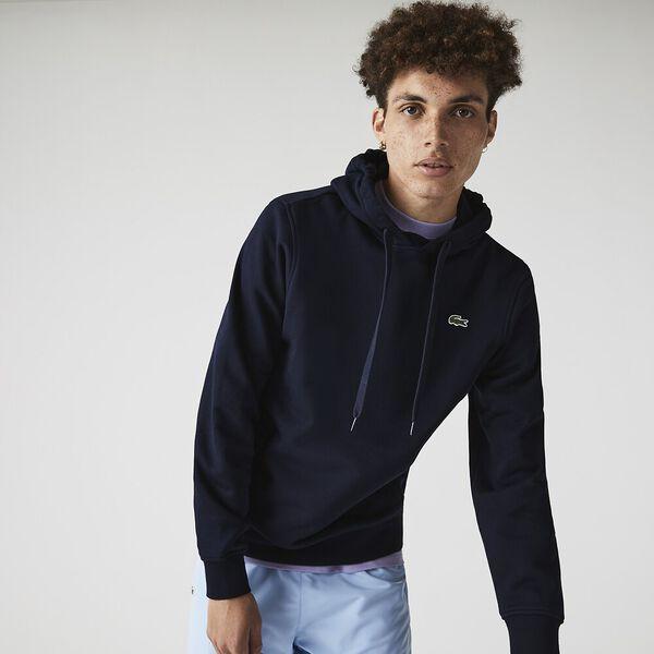 Men's Lacoste SPORT Fleece Cotton Blend Hoody Sweatshirt