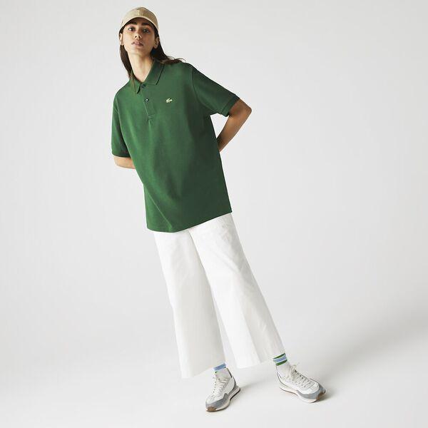 Unisex LIVE Loose Fit Cotton Piqué Polo, GREEN, hi-res
