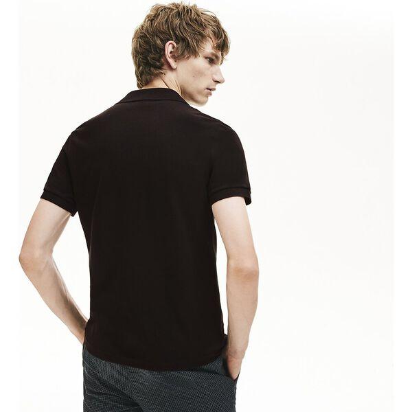 Men's Regular Fit Contrast Accents Cotton Piqué Polo, BLACK/ECLIPSE JASPE, hi-res