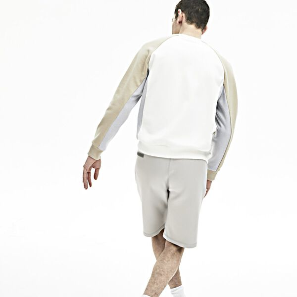 Men's Lacoste Motion Stretch Cotton Bermuda Shorts, NIMBUS, hi-res