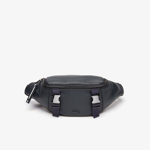 Men's Altitude Clips Grained Leather Zip Belt Bag