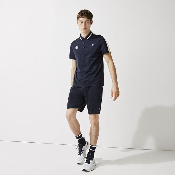 Men's SPORT French Open Edition Second-Skin Polo, NAVY BLUE/WHITE-SUNNY, hi-res