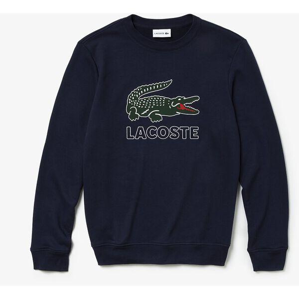 Men's Lacoste Croc Crewneck Sweat, NAVY BLUE, hi-res