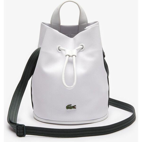 Women's Court Line Contrasting Shoulder Strap Bucket Bag, FARINE SINOPLE, hi-res