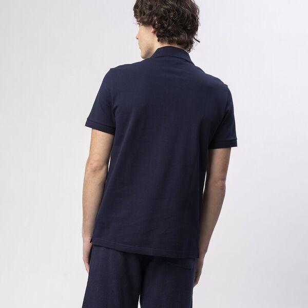 Men's Cotton Piqué Slim Fit Polo, NAVY BLUE, hi-res