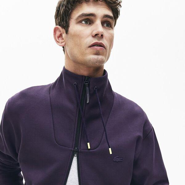 Men's Lacoste Motion Zip Front Sweatshirt, DARK NAVY BLUE, hi-res
