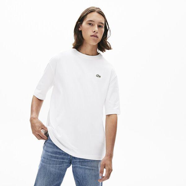 Men's Lacoste LIVE Crew Neck Loose Cotton T-shirt