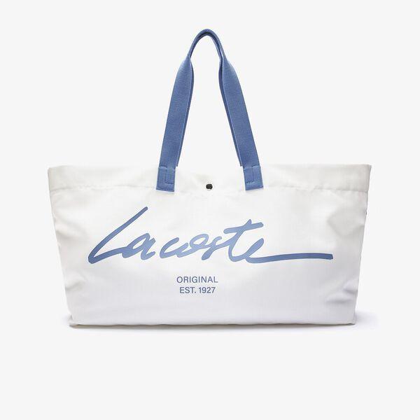 Women's Large Print Canvas Beach Bag