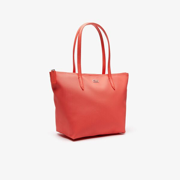 WOMEN'S L.12.12 SMALL SHOPPING BAG, CORAL, hi-res