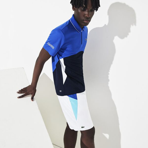 Men's Tennis Ultra Dry Colour Block Polo, OBSCURITE/MARINE-BLANC-BLANC, hi-res