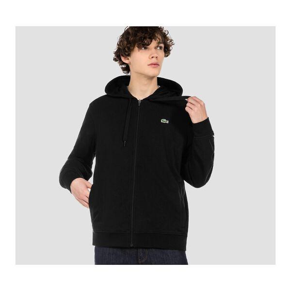 Men's SPORT Fleece Cotton Blend Hoody Sweatshirt, BLACK/BLACK, hi-res