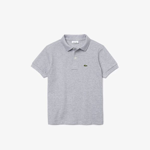 UNISEX KIDS BASIC POLO, SILVER CHINE, hi-res