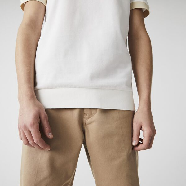 Men's Regular Fit Fresh Cotton Piqué Polo, FLOUR/VIENNESE, hi-res