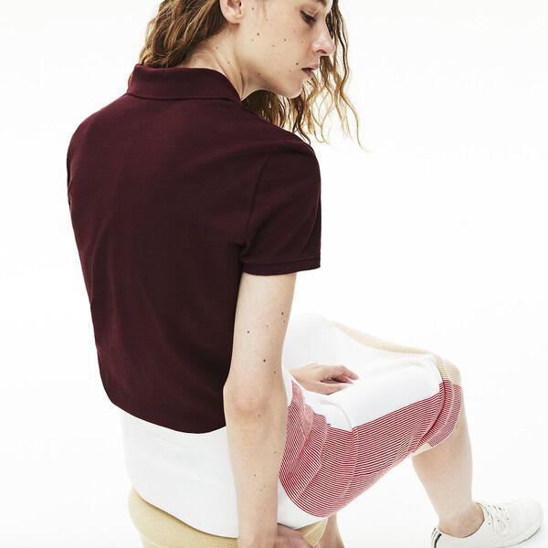 Women's Lacoste Classic Fit Soft Cotton Petit Piqué Polo Shirt, PRUNEAU, hi-res