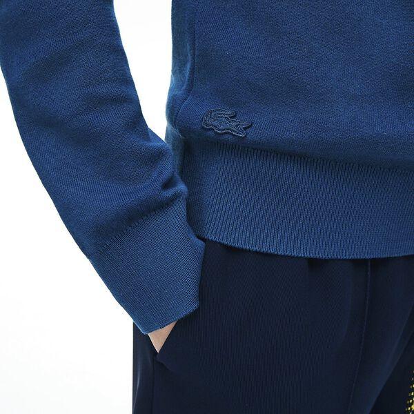 Women's Tattersalls Cotton Crew Neck Knit, RAFFIA MATTING, hi-res